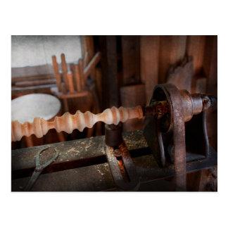 Woodworker - Lathe - Rough cut Postcard