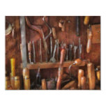 Woodworker - Old tools 4.25x5.5 Paper Invitation Card