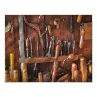 Woodworker - Old tools Card