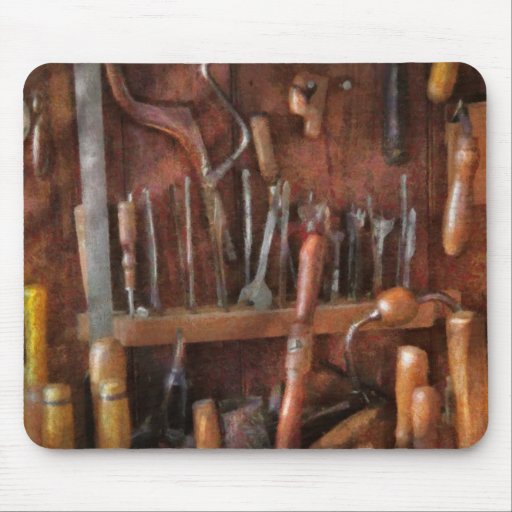 Woodworker - Old tools Mouse Pad
