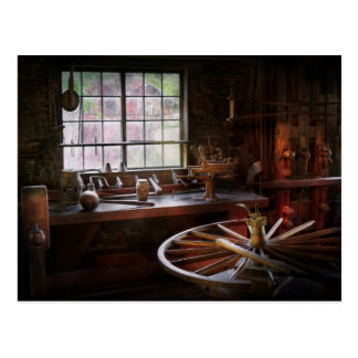 Woodworker - The wheelwright shop Postcard