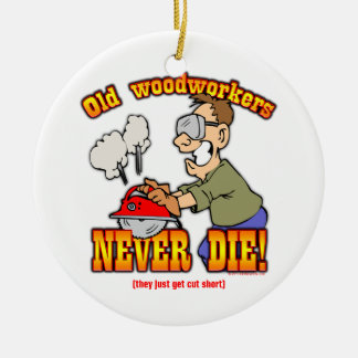 Woodworkers Ceramic Ornament