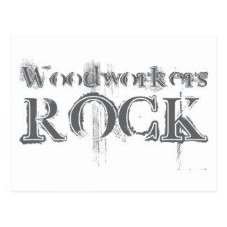 Woodworkers Rock Postcard