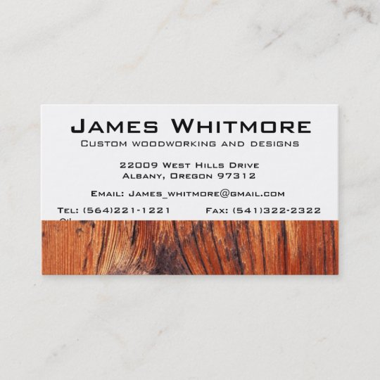 Woodworking business card zazzle woodworking business card colourmoves