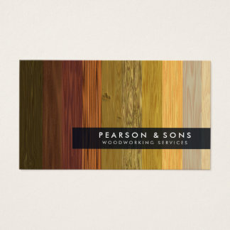 Woodworking Multiple Wood Texture Business Card