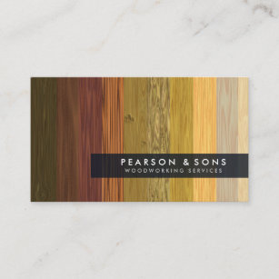 Woodworking business cards zazzle woodworking multiple wood texture business card colourmoves