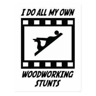 Woodworking Stunts Postcard