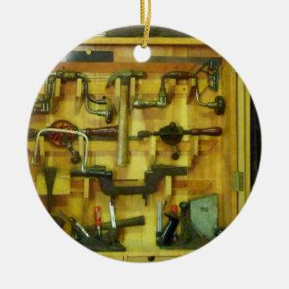 Woodworking Tools Ceramic Ornament