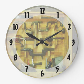 Woodworking Tools Round Wall Clock