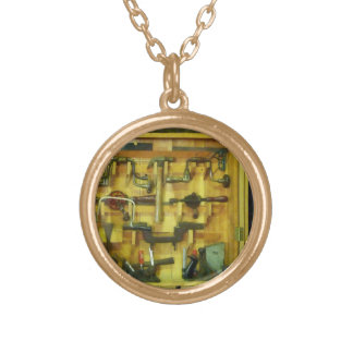 Woodworking Tools Round Pendant Necklace