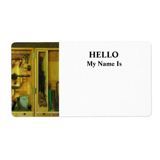 Woodworking Tools Shipping Label