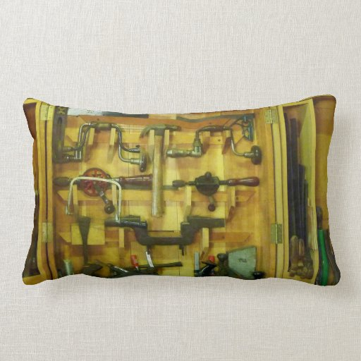 Woodworking Tools Throw Pillows
