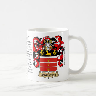 Woodworth, the Origin, the Meaning and the Crest Coffee Mug