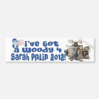 Woody 4 Palin 2012 Gear Car Bumper Sticker