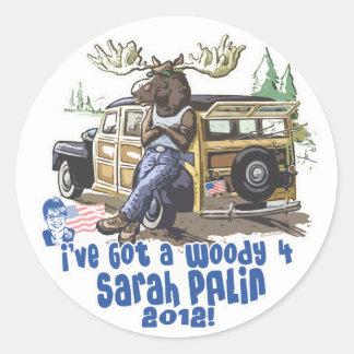 Woody 4 Palin 2012 Gear Classic Round Sticker