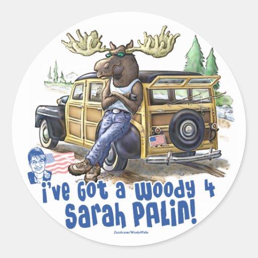 Woody 4 Palin Classic Round Sticker