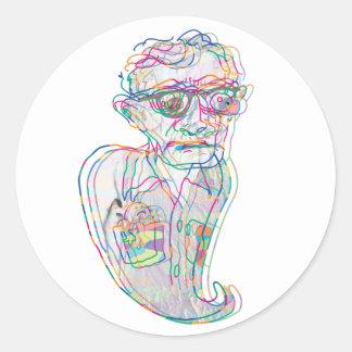 Woody Allen en un pegatina fantasmal de Confustion