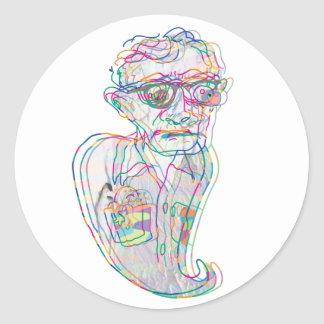 Woody Allen in a Ghostly Confustion Sticker