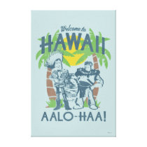 Woody and Buzz - Welcome To Hawaii Canvas Print