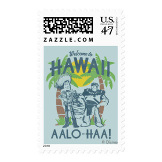 Woody and Buzz - Welcome To Hawaii Postage Stamp