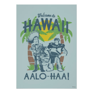 Woody and Buzz - Welcome To Hawaii Poster