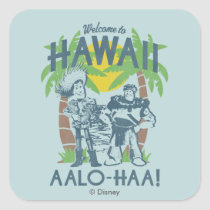 Woody and Buzz - Welcome To Hawaii Square Sticker