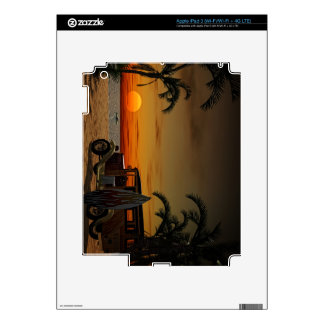 Woody Beach Decals For iPad 3