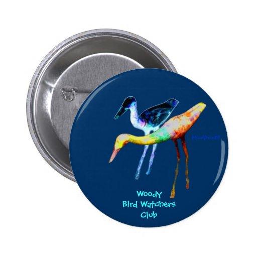Woody Birds Button
