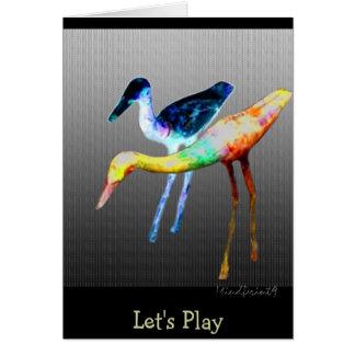 Woody Birds Card