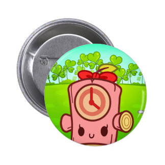 Woody Dummy (Lead Clover II) Pinback Buttons