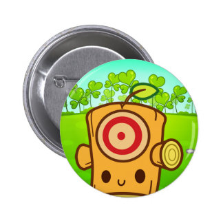 Woody Dummy (Leaf Clover I) Pinback Button