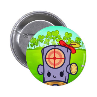 Woody Dummy  (Leaf Clover III) Pinback Buttons