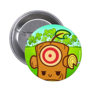 Woody Dummy  (Leaf Clover IV) Pinback Button
