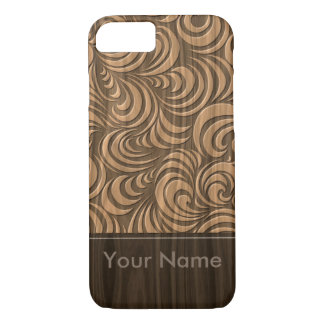 < Woody >Eddying current grain pitch design iPhone 8/7 Case