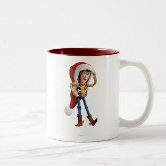 Woody en el gorra de Santa Taza De Dos Tonos