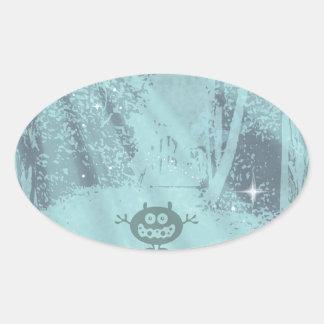 Woody Gremlin Oval Sticker