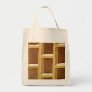 WOODY GROCERY TOTE CANVAS BAGS