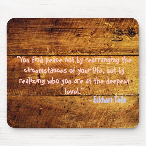 woody grunge quote mouse pad