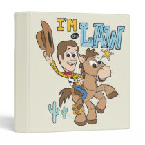 "Woody ""I'm The Law"" 3 Ring Binder"
