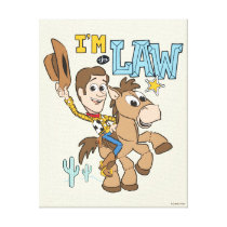 "Woody ""I'm The Law"" Canvas Print"
