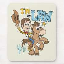 "Woody ""I'm The Law"" Mouse Pad"