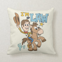 "Woody ""I'm The Law"" Throw Pillow"