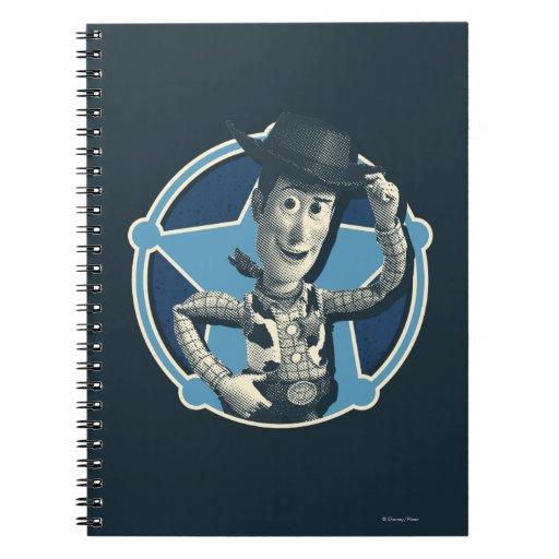 Woody: Insignia del sheriff Libro De Apuntes Con Espiral