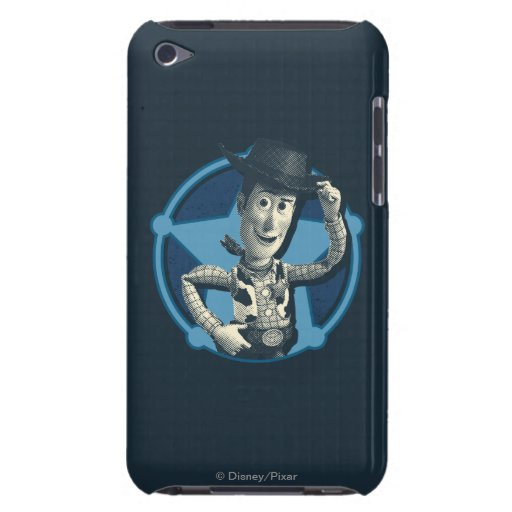 Woody: Insignia del sheriff iPod Touch Case-Mate Carcasa