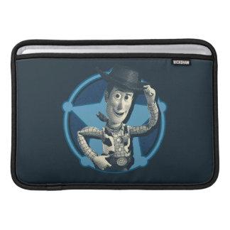 Woody: Insignia del sheriff Funda Para Macbook Air