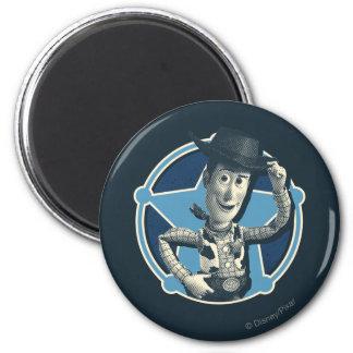 Woody: Insignia del sheriff Imán Redondo 5 Cm