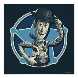 Woody Insignia del sheriff Posters