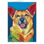 Woody la tarjeta de nota del perro de la terapia