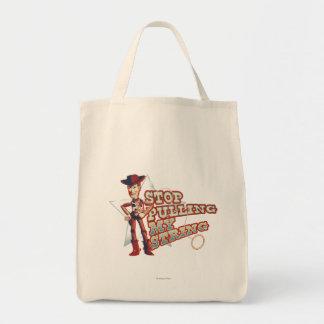Woody: Pare el tirar de mi secuencia 2 Bolsa Tela Para La Compra