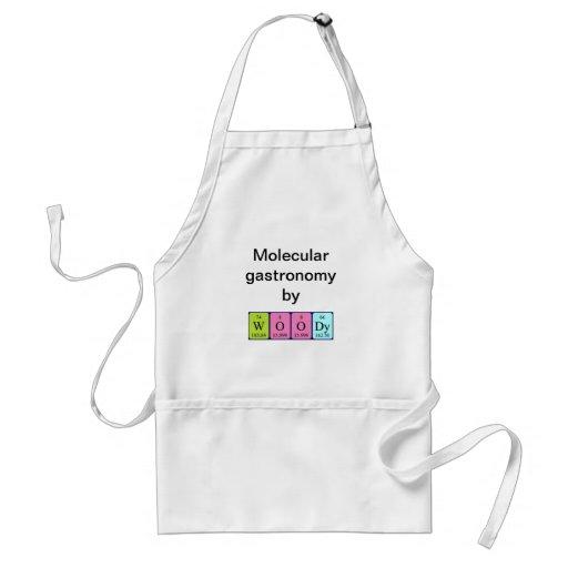 Woody periodic table name apron apron